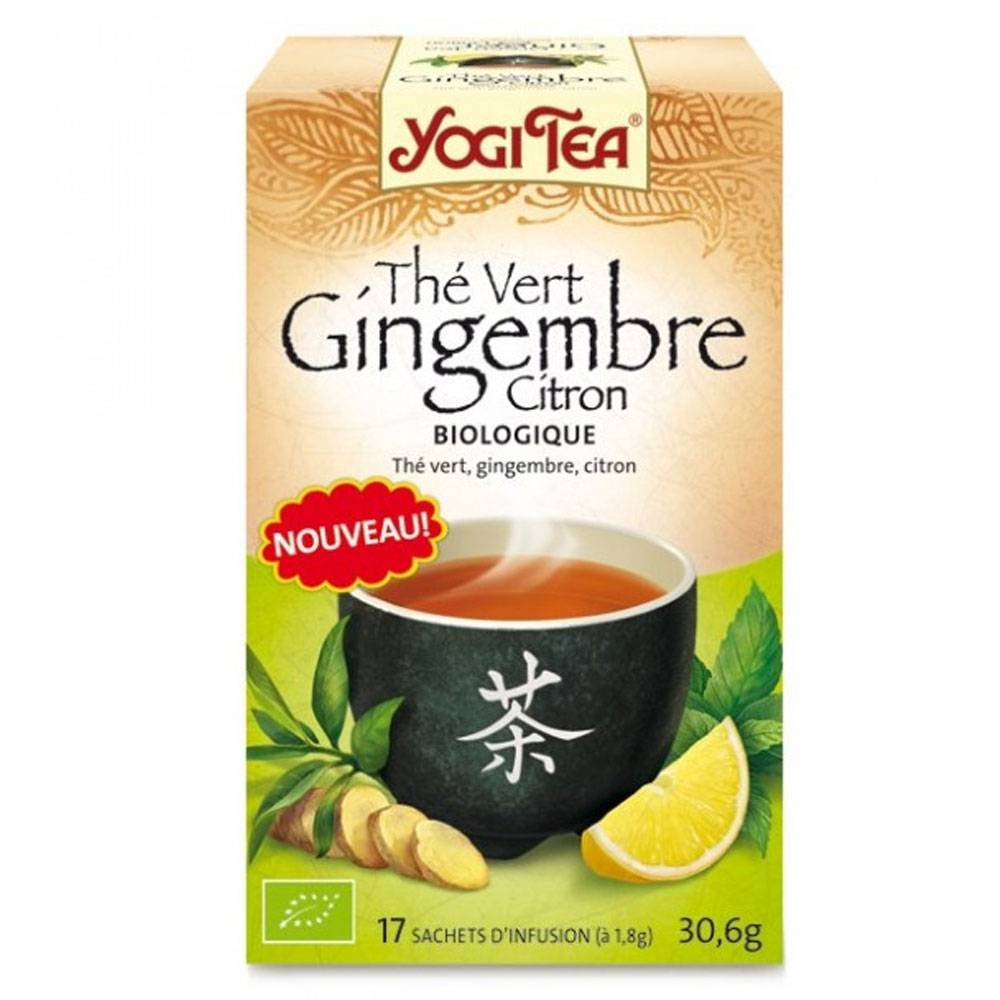 YOGI TEA THE VERT GINGEMBRE CITRON 17 SACHETS