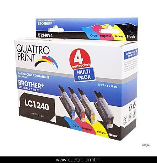 Brother Pack 4 cartouches d'encre compatible LC-1240