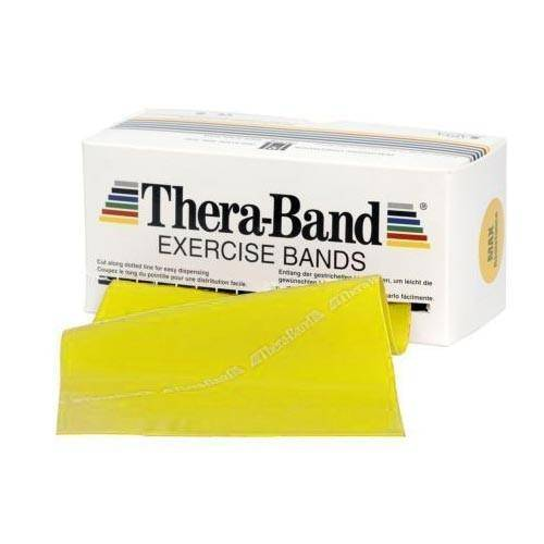Patterson Bandes d'exercices sans latex Thera-Band® - Jaune - 46 m