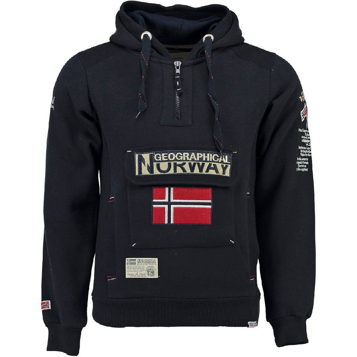 GEOGRAPHICAL NORWAY Sweat à capuche - GEOGRAPHICAL NORWAY