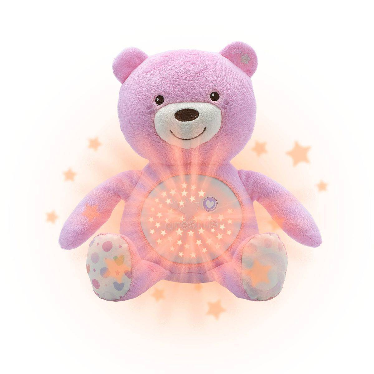 Chicco Ourson projecteur Baby Bear, rose - CHICCO