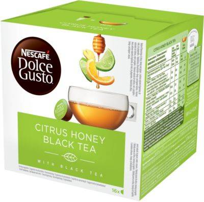 Nestle Dosette Dolce Gusto Nestle Nescafé Tea Citrus honey black x16