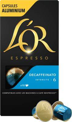 L'or Dosettes exclusives L'or Espresso Café Decaféinato 6 X10