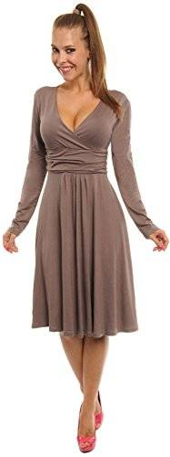 Glamour Empire Aux Femmes Cercle Jersey Robe Long Manche 890 (4XL - Royaume-Uni 18/20 ? UE 46/48, Cappuccino)