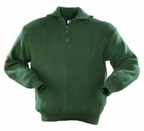 Stricktroyer Pull avec Col 9436-0-300-L Pull avec Col, 100 % Polyacryl, Taille L, Couleur: Olive (Import Allemagne)
