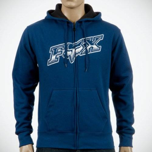 Fox Sweat Luster Zip Front Midnight Taille S