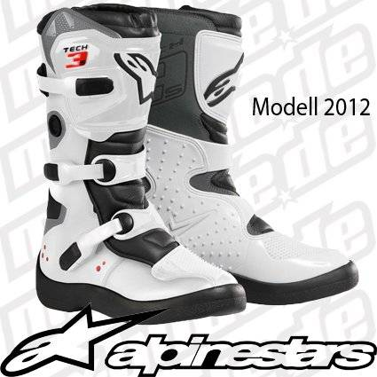 Alpinestars - Bottes cross - TECH 3S YOUTH BOOT - Couleur : White - Pointure : 2