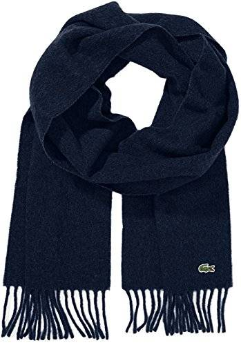 Lacoste Woven Scarf - Navy Blue