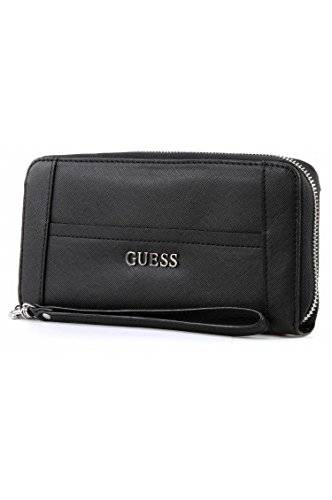 Guess Portefeuille GUESS Delaney Large Zip Black