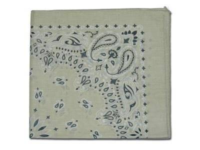 Picky Poo Planet Vintage - Foulard Bandana made in USA - Beige