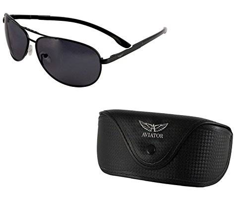 Aviator Sunglasses With Black Frame And Smoky Lens (AVGSR373TZ)