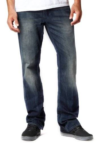 Fox - - Duster Homme Jeans, 32W x 32L, Dirty Rinse