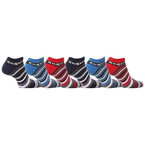 Kickers - Socquettes - - À rayures Homme Multicolore Red/Blue/Grey