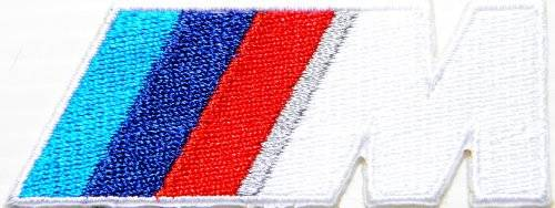 """koyjung BMW M Series M3 M5 M6 Logo Jacket T-shirt Patch Sew Iron on Embroidered Badge Sign / Size 3""""Width x 1""""Height"""