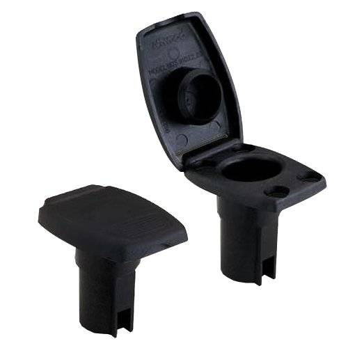 Attwood Marine ATTWOOD OVAL BASE FOR ANGLED POLE 2-PIN BLACK