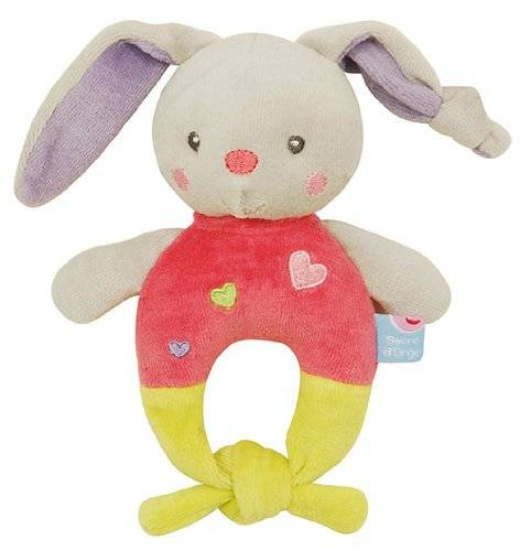 Sucre D'Orge - BabyProducts - Feminin - hochet lapin malabar - Taille UNIQUE - Couleur rose