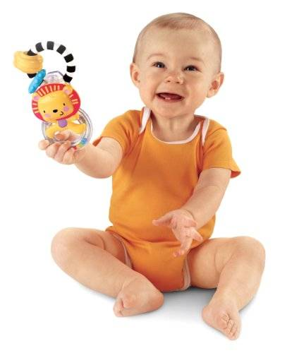 Fisher-Price Hochet lion Fisher Price 3-18 mois