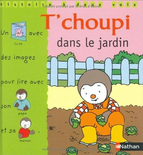t'choupi dans le jardin  Courtin, Thierry, grand format