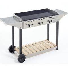 ROLLER GRILL Desserte chps inox/bois pour plancha 900 roller grill