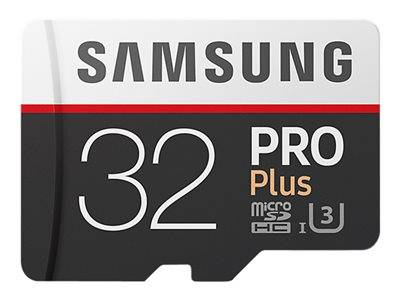 Samsung pro plus mb-md32g - carte mémoire flash (adaptateur microsdhc - sd in...