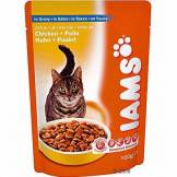 Procter & Gamble International Iams Adult 6 x 100 g pour chat - saumon en sauce
