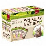 Schmusy Lot Schmusy Nature 12 x 100 g pour chat - lot mixte