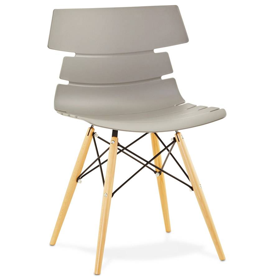 Soldes - Chaise moderne 'SOFY' grise style scandinave