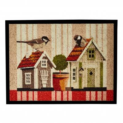 Tapis antiderapant impression feuilles - Soldes