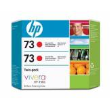 Hewlett-Packard HP 73 Cartouche d'encre d'origine 2 x rouge chromatique