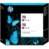 Hewlett-Packard HP 70 Twin Pack Cartouche d'encre d'origine 2 x magenta
