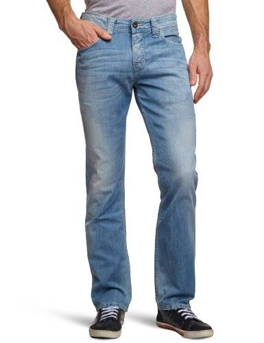 Pepe Jeans - Jean - Coupe Droite - Homme - Bleu (000Denim) - FR : 32W/34L (Taille fabricant : 32/34)