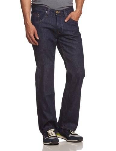 Hilfiger Denim - Wilson MRW - Jean - Coupe droite - Homme - Bleu (Michigan Raw) - FR : W34/L32 (Taille Fabricant : 34/32)