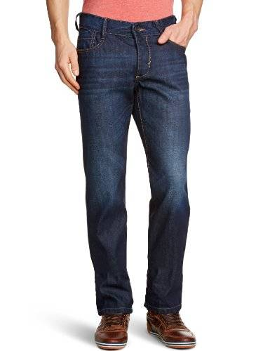 Esprit edc by ESPRIT - Jean - Coupe Droite - Homme - Bleu (Dark Stone Used 995) - FR : 31W/32L (Taille fabricant : 31/32)