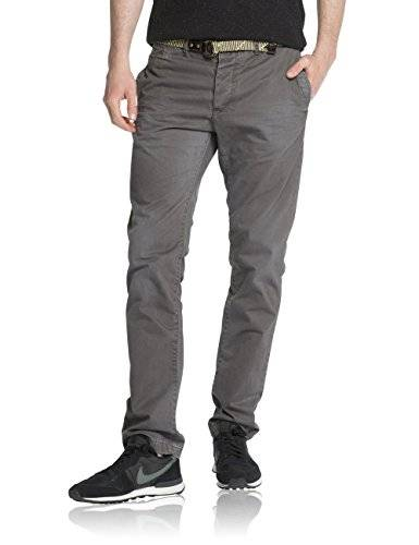 Scotch & Soda 14040880002 - Pantalon - Relaxed - Homme - Gris (graphite 91) - W33/L34 (Taille fabricant: 33/34)