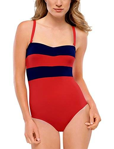 Schiesser - Maillot une pièce - Femme - Rouge (Rot 500) - FR: 46 (Taille fabricant: 044C)