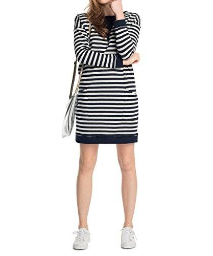 ESPRIT - Robe - Manches longues Femme - Multicolore - Mehrfarbig (ROYAL NAVY 488) - 44