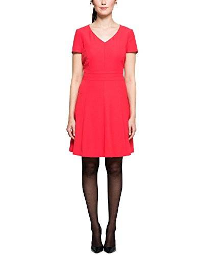Comma - Robe - Manches courtes Femme - Rouge - 36