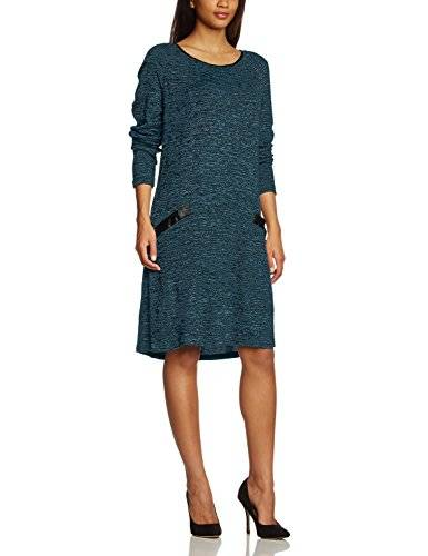 Zizzi Dress, Above Knee - Robe - Manches longues - Femme - Vert (Legion Blue Melange 1571) - FR: 44 (Taille fabricant: S)