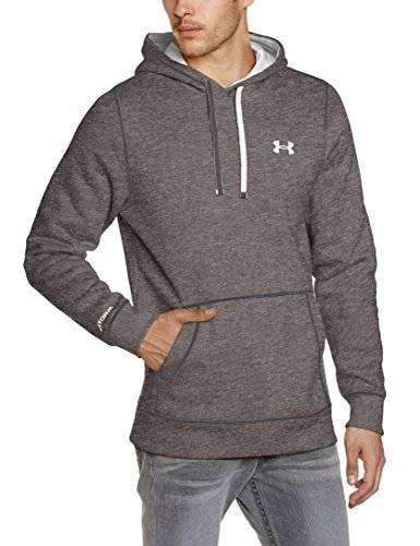 Under Armour CC Storm Rival Sweat-Shirt à capuche Homme Carbon Heather/White/White FR : M (Taille Fabricant : MD)