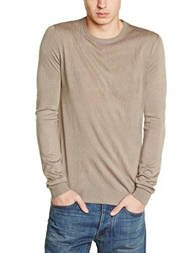 Benetton United Colors of Benetton Basic Crew Neck - Pull - Manches longues - Homme - Marron - X-Small