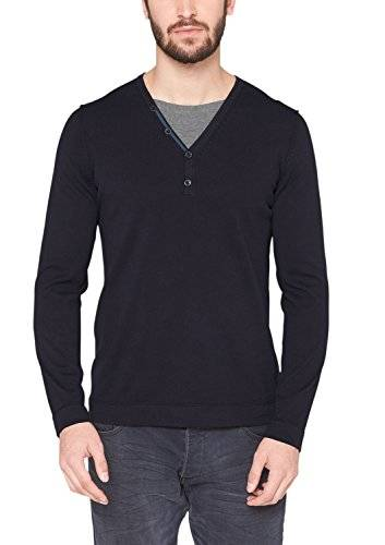S.Oliver 13.411.61.7279 - Pull - Col V - Manches longues - Homme - Bleu (Deep Sea 5958) - X-Large (Taille fabricant: XL)