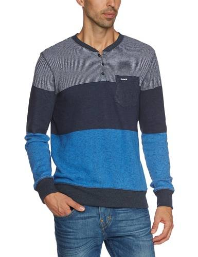 Hurley Blockade Crew Pull Homme True Navy FR : L (Taille Fabricant : L)