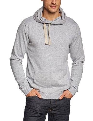 Sublevel Sublevel Herren Pullover, Überlappende Kapuze Mit Tunnelzug - Pull - À capuche - Manches longues - Homme - Gris (23200-light grey 23200) - XX-Large (Taille fabricant: XXL)