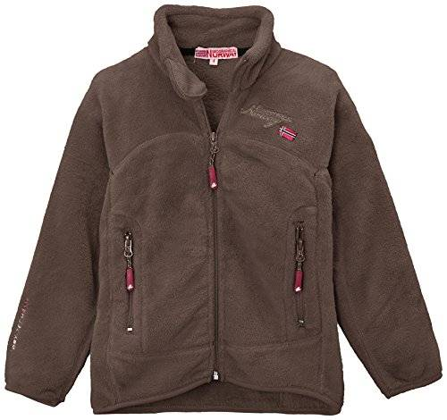 Geographical Norway Ursula Veste polaire Fille Taupe FR : 8 ans (Taille Fabricant : 8 ans)