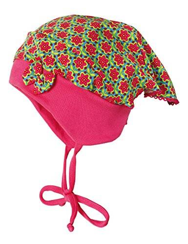 Maximo - Chapeau - Fille - Multicolore (Rot-Orange-Blüten, Sexy Pink 2025) - FR: 49 cm (Taille fabricant: 49)