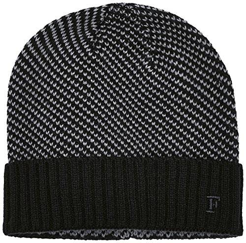 French Connection Luke Birdseye Stitch - Bonnet - Homme - Multicolore (Black/Charcoal) - FR: Taille unique (Taiile fabricant: Taille unique)