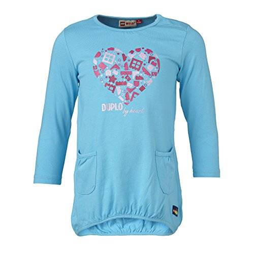 LEGO Wear - Robe - Trapèze - Manches courtes Fille - Turquoise - Türkis (TURQUISE 741) - 12 mois