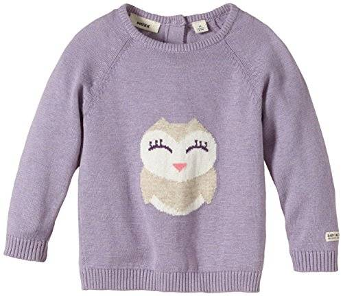 MEXX Baby Girls Flatknit - Sweat-shirt - Bébé fille - Violet (Thistle Heather 567) - FR: 2 mois (Taille fabricant: 50/56)