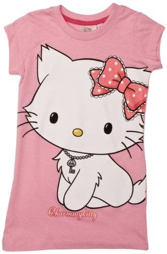 Charmmy Kitty - T-Shirt - Fille - Rose (Pink/Carmine Rose) - FR : 3 ans (Taille fabricant : 3 years)