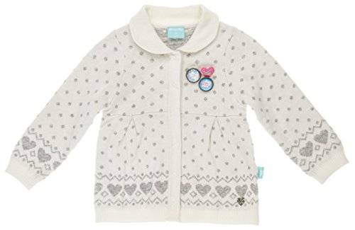 Pampolina - Gilet - Bébé fille - Blanc (Snow White White 1050) - FR: 4 ans (Taille fabricant: 104)